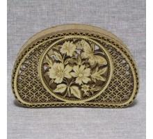 Салфетница ажурная цветы 15*9,5*3,5 (см)